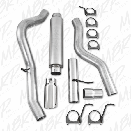 "MBRP 4"" Cat Back, Single Side, AL 2006-2007 Chevy/GMC 2500/3500 Duramax, Classic, EC/CC"