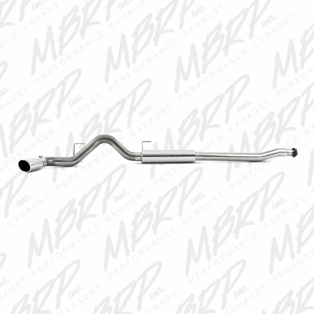 "MBRP 4"" Cat Back, Single Side, EcoBoost, T409 2011-2014 Ford Ford F-150 3.5L V6 EcoBoost"