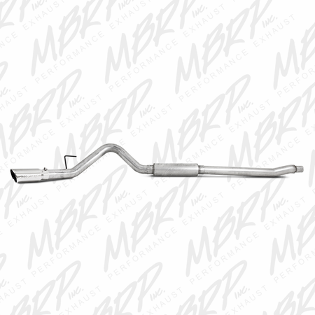 "MBRP 4"" Cat Back, Single Side Exit, AL 2011-2014 Ford F-250/350/450 6.2L V8"