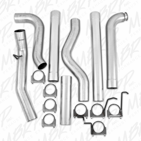 """MBRP 4"""" Down Pipe Back, Single Side, Off-Road (includes front pipe) - no muffler 2001-2007 Chevy/GMC 2500/3500 Duramax, Classic, EC/CC"""