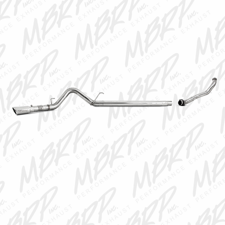 """MBRP 4"""" Filter Back, Single Side Exit, T409 + Down Pipe 2008-2010 Ford F-250/350/450 6.4 L"""