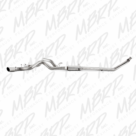 """MBRP 4"""" Turbo Back, Cool Duals (4WD only), T409 1994-2002 Dodge 2500/3500 Cummins"""
