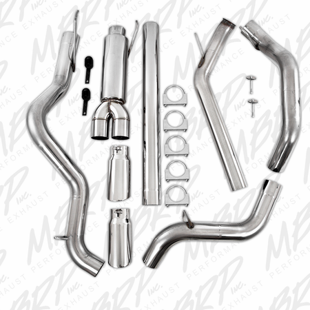 """MBRP 4"""" Turbo Back, Cool Duals (4WD only), T409 2003-2004 Dodge 2500/3500 Cummins"""