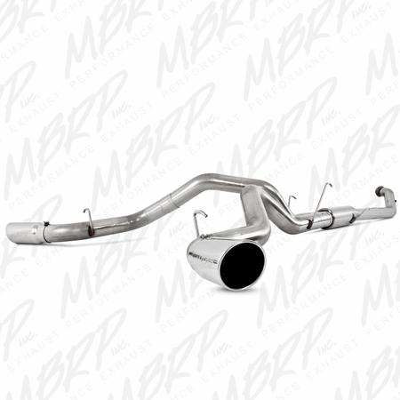 "MBRP 4"" Turbo Back, Dual Side Exit, T409 2004.5-2007 Dodge 2500/3500 Cummins ""600/610"""