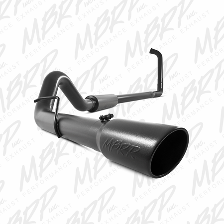 "MBRP 4"" Turbo Back, Single Side Exit, Off-Road, Black Finish 2003-2007 Ford F-250/350 6.0L"