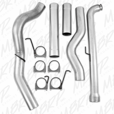 """MBRP 5"""" Off Road, Single Side (includes front pipe) - no muffler 2001-2007 Chevy/GMC 2500/3500 Duramax, Classic, EC/CC"""