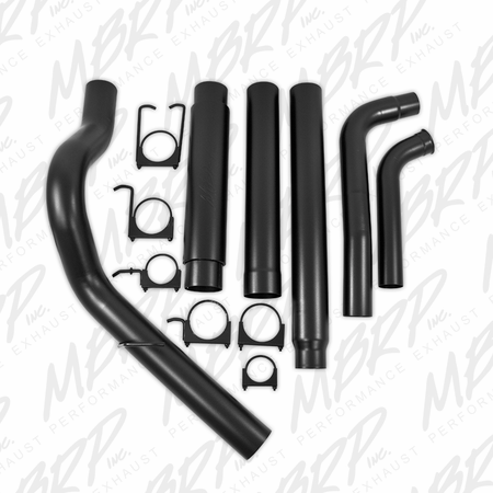 "MBRP 5"" Turbo Back, Single Side Exit, Black Coated 2003-2007 Ford F-250/350 6.0L, EC/CC"