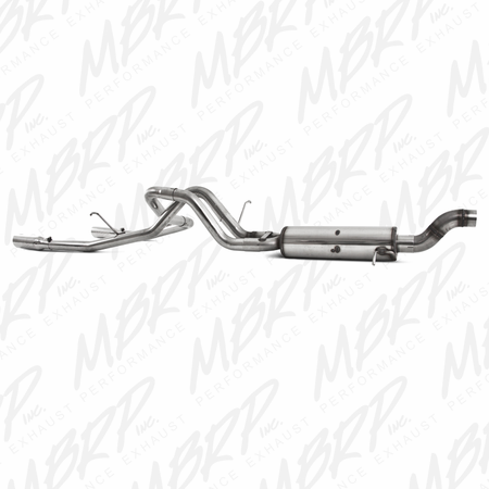 MBRP Cat Back, Dual Rear, T409 2009-2012 Chevy/GMC Colorado/Canyon 5.3L V8 EC/CC-SB