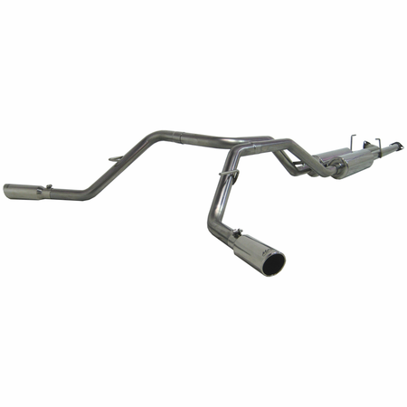 MBRP Cat Back, Dual Side, T409 2009 Toyota Tundra 4.7L V8, DC-Std. & CM-SB