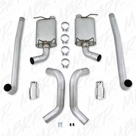 MBRP Cat Back, Dual Split Rear, AL 2011-2013 Ford Mustang V6