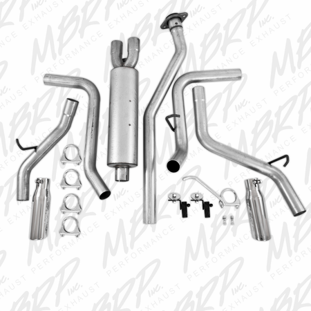 MBRP Cat Back, Dual Split Side, AL 2003-2007 Chevy/GMC 1500 Classic 4.8/5.3L EC/CC-SB