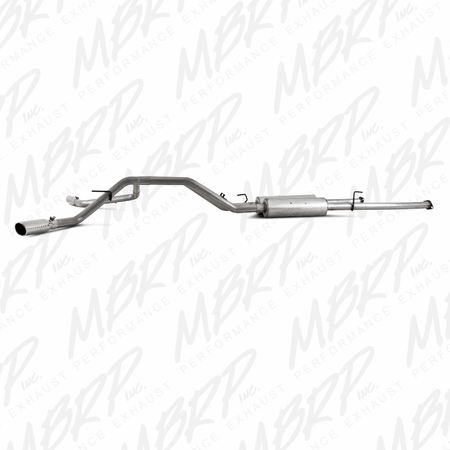 MBRP Cat Back, Dual Split Side, AL 2009-2013 Toyota Tundra 5.7L, EC-Std. & SB/CC-SB