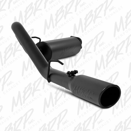 MBRP Cat Back, Single Side, Black Coated 2000-2006 Jeep Wrangler (TJ) Inline-4 2.5L, Inline-6 4.0L