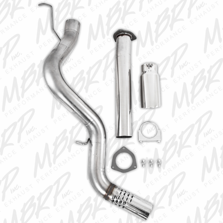 MBRP Filter Back, Single Side & Turbo Down Pipe, T409 2007-2010 Chevy/GMC 2500/3500 Duramax 6.6L