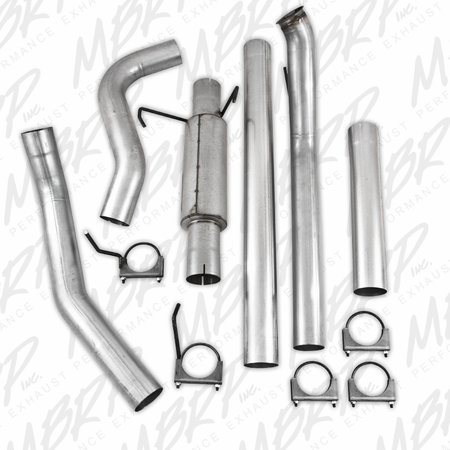 MBRP Turbo Back, Cool Duals (4WD only) 2003-2004 Dodge 2500/3500 Cummins