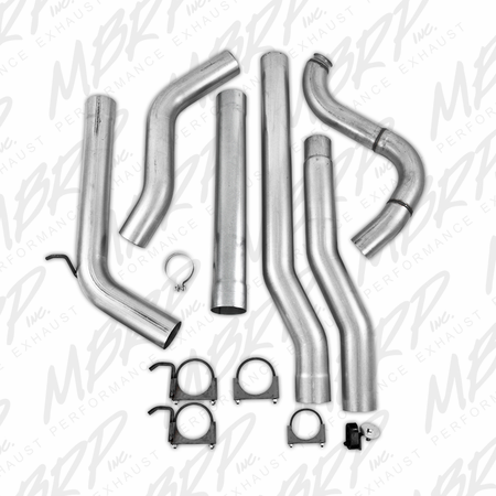 MBRP Turbo Back, Single Side (4WD only), no Muffler, AL 1988-1993 Dodge 2500/3500 Cummins