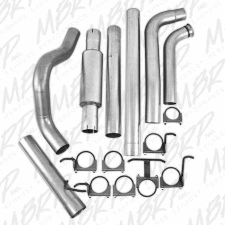 MBRP Turbo Back, Single Side Off-Road 2003-2007 Ford F-250/350 6.0L