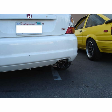Megan Racing Axle Back Exhaust System: Honda Civic Si 02-05 EP3