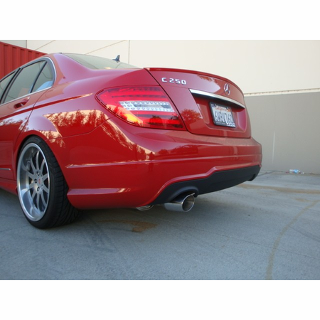 Megan Racing Axle Back Exhaust System: Mercedes Benz C250 4DR only 2012-14 Burnt Roll Tip