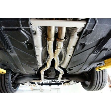 Megan Racing Axle Back Exhaust System: Mercedes Benz C63 AMG 12-15