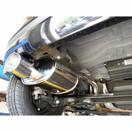 Megan Racing OE-RS Cat-Back Exhaust System: Fiat 500 2012+ Burnt Roll Tip (Do not fit Abarth or Turbo model)