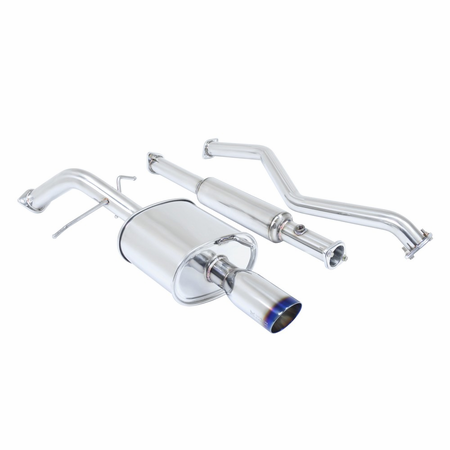 Megan Racing OE-RS Cat-Back Exhaust System: Mitsubishi Lancer 02-06 Burnt Roll Tips