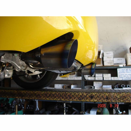 Megan Racing OE-RS Cat-Back Exhaust System: Nissan 350z Burnt Ti Tips