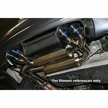 Megan Racing Supremo Exhaust System: BMW E46 M3 01-06 Burnt Roll Tips