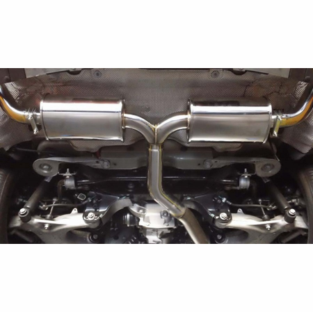 Megan Racing Supremo Exhaust System: BMW E70 X5 2007-13 V6 Model Only (Exclude M Package) Stainless Rolled Tips