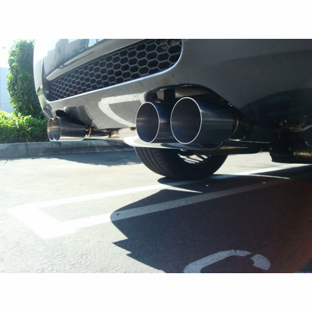Megan Racing Supremo Exhaust System: BMW E90 M3 4 DR 2008-11 Black Chrome Roll Tips