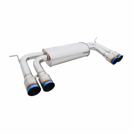 Megan Racing Supremo Exhaust System: BMW X6M 2010-14 Titanium Blue Tips