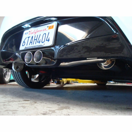 Megan Racing Type2 Cat-Back Exhaust System: Hyundai Veloster 2012+ Stainless Rolled Tips