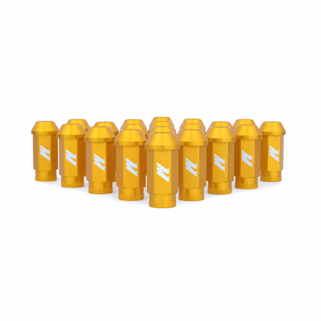 Mishimoto Aluminum Competition Lug Nuts, M12 X 1.25 Gold