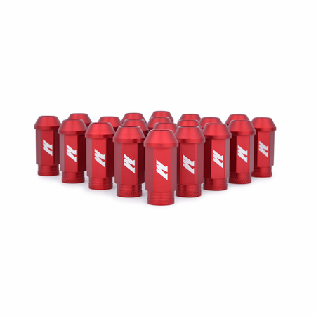 Mishimoto Aluminum Competition Lug Nuts, M12 X 1.25 Red