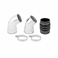 Mishimoto Chevrolet/GMC 6.6L Duramax Cold-Side Intercooler Pipe and Boot Kit, 2006-2010 Black