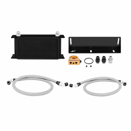 Mishimoto Ford Mustang 5.0L Thermostatic Oil Cooler Kit, 1979-1993 Black