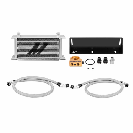 Mishimoto Ford Mustang 5.0L Thermostatic Oil Cooler Kit, 1979-1993 Silver
