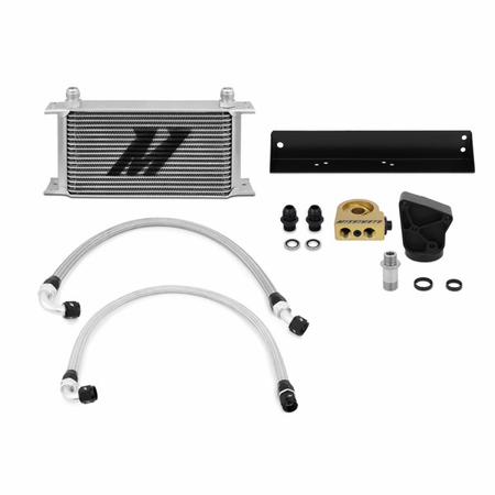 Mishimoto Hyundai Genesis Coupe 3.8L Thermostatic Oil Cooler Kit, 2010-2012 Silver