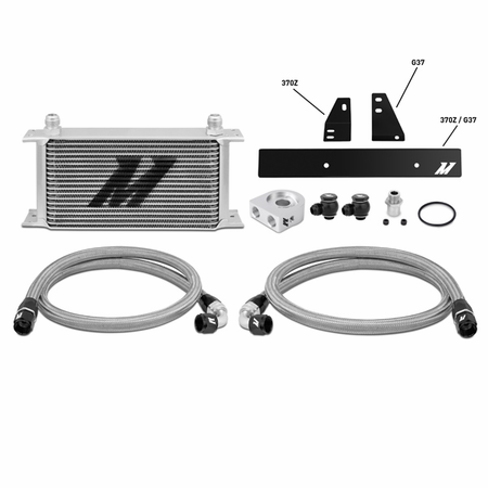 Mishimoto Nissan 370Z, 2009+ / Infiniti G37, 2008+ (Coupe only) Oil Cooler Kit Silver