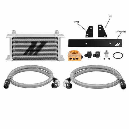 Mishimoto Nissan 370Z, 2009+ / Infiniti G37, 2008+ (Coupe only) Thermostatic Oil Cooler Kit Silver