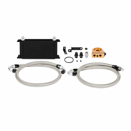 Mishimoto Subaru WRX STI Thermostatic Oil Cooler Kit, 2008+ Black