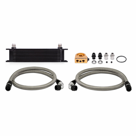 Mishimoto Universal 10-Row Thermostatic Oil Cooler Kit, Black