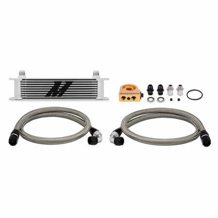 Mishimoto Universal 10-Row Thermostatic Oil Cooler Kit, Silver
