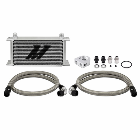 Mishimoto Universal Oil Cooler Kit, 19-Row Silver