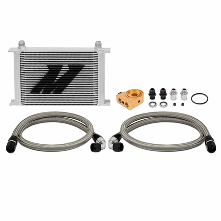 Mishimoto Universal Thermostatic Oil Cooler Kit, Silver, 25-Row