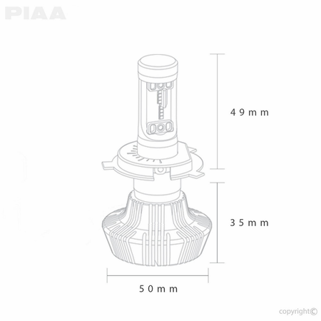 Piaa Platinum H11 Led Bulb Twin Pack
