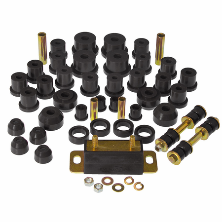 Prothane Motion Control Total Kit Black 65-66 Ford Mustang (w/Trans. Mount)