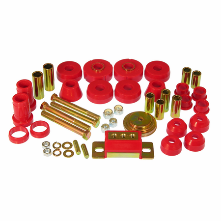 Prothane Motion Control Total Kit Red 63-66 Chevrolet/GM Full Size 2WD