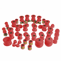 Prothane Motion Control Total Kit Red 90-93 Acura Integra (w/o Rr. Upper C-Arm Bushings)