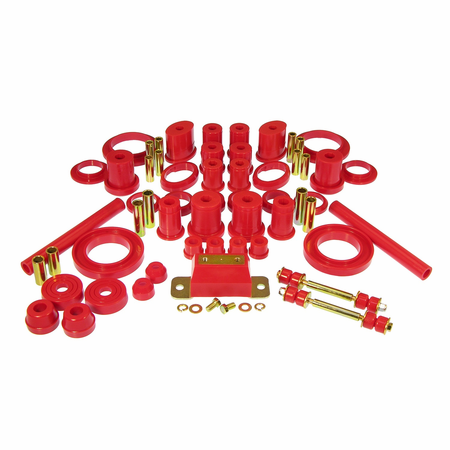 Prothane Motion Control Total Kit Red 94-98 Ford Mustang, V8 (w/Trans. Mount)**